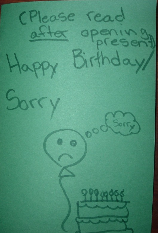 sorry card front